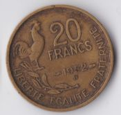 France, 20 Francs 1952 B, VF, WE1150